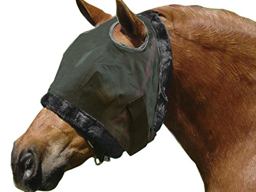 Weaver Leather DELUXE FLY MASK W/O EARS,SM,BK