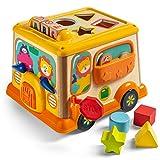 TOP BRIGHT Cubo de actividad juguetes para niños de 1 año, juguete de madera para regalos de un año, juguete educativo para 12 meses