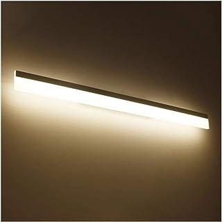 &Lámpara frontal con espejo LED Luz de espejo en el baño - Minimalista moderna con retrovisores y luces delanteras en el e...