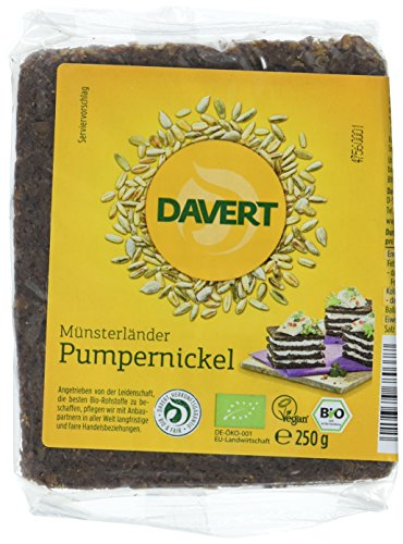 Davert Pumpernickel, 6er Pack (6x 250 g) - Bio