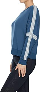 Rockwear Activewear Women's Tape Trim Sweat Airforce 10 from Size 4-18 Hoodies & Sweats for Tops
