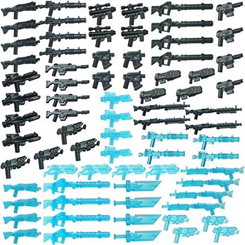 ColiCor 75pcs Conjunto de Armas Arma Medieval Personalizada para Caballeros y Soldados Medievales de la policía Minifiguras del Equipo SWAT , Compatible con Lego