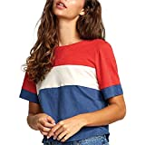 RVCA(ルーカ) トップス Tシャツ RVCA Adeline T-Shirt - Women's Dark Denim レディース [並行輸入品]
