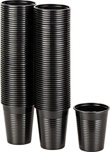 Kigima Einweg Trinkbecher Kunststoff schwarz, 100 STK, 0,18 Liter