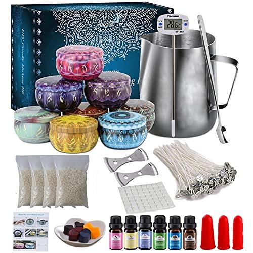 NICEFACE Set di candele fai da te per la produzione di candele, Rechoo per principianti, set per la produzione di una candela con profumo