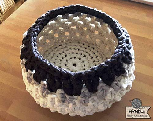 Cesta diseño exclusivo pieza única: crochet en trapillo