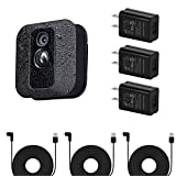 3Pack Power Adapter for Blink XT / XT2 & All-New Blink Outdoor Indoor Camera, Long and Thin 25 ft/7.5m Weatherproof Cable Continuously Charging Your Blink Security Camera (Black)