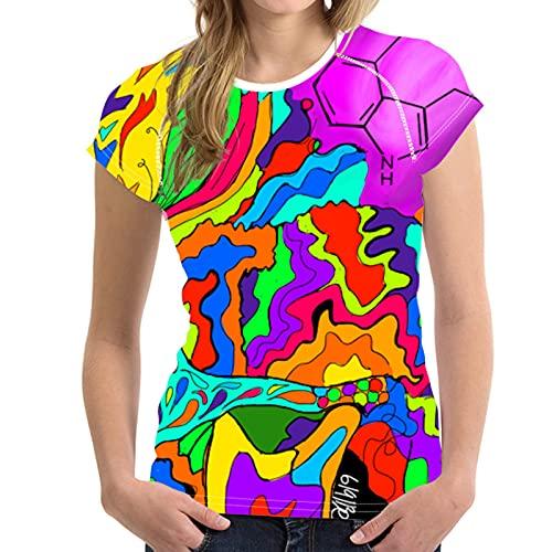 SLYZ Camiseta De Manga Corta Estampada En 3D para Mujer Camiseta Estampada Digital Delgada De Moda para Mujer