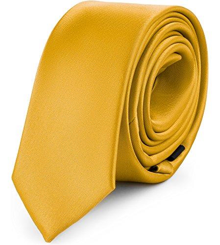 Ladeheid Corbatas Estrechas Diversidad de Colores Accesorios Ropa Hombre SP-5 (150cm x 5cm, Miel)