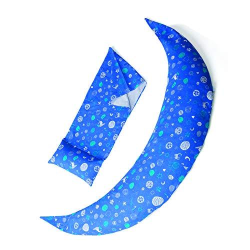Nuvita 7101 Housses pour Les Coussins de Grossesse et d'allaitement Dreamwizard 12 en 1 7100 - Tissu Hypoallergénique et Respirant pour Coussins de Maternité (Boy Blue)