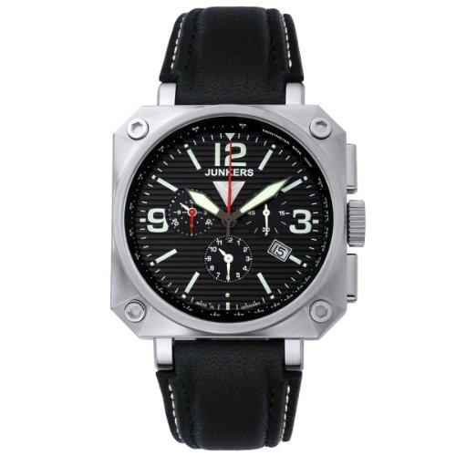 Junkers Herren-Armbanduhr XL Chronograph Quarz Leder 6790-2