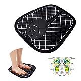 Ankep EMS Fußmassagegerät, Klappbare Fußmatte Einstellbar 6 Vibrationsmodi 10 Frequenz, Pad Füße Muskelstimulator Fußmassagematte Verbessern die Durchblutung, Schmerzlinderung