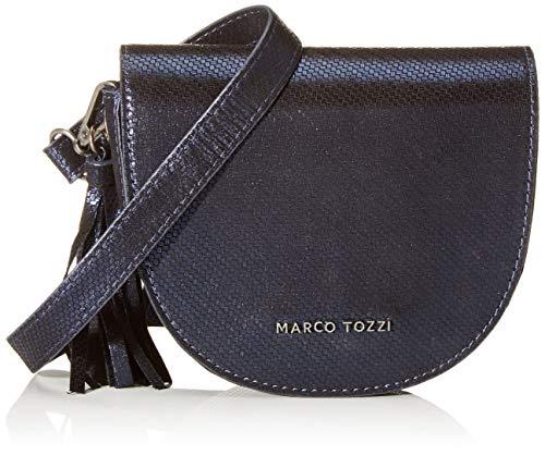 MARCO TOZZI Damen 2-2-61002-23 Umhängetasche, Blau (NAVY MET. STR.), 5x14x16.5 cm
