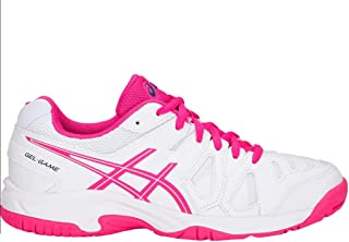 ASICS Gel Game 5 Gs Junior Tennis Shoe (White/Pink Glo)