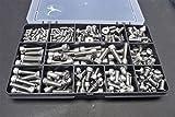 A2–70Edelstahl-Schrauben mit und ohne Kopf, sortiert, für Fahrräder, in einer robusten Box mit...