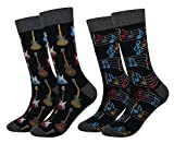 Men's 2 Packs Guitar Music Socks Gift Fun Crazy...