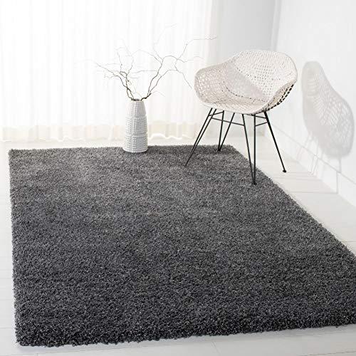 Safavieh Shaggy Teppich, SG151, Gewebter Polypropylen, Dunkelgrau, 120 x 180 cm