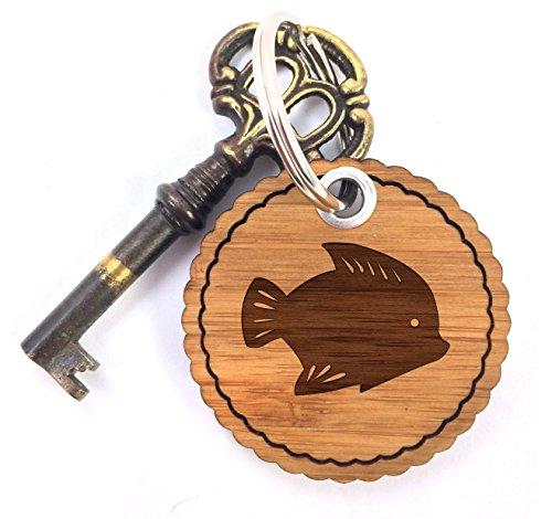 Mr. & Mrs. Panda Taschenanhänger, Glücksbringer, Rundwelle Schlüsselanhänger Fisch - Farbe
