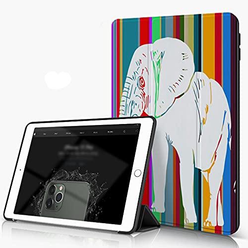 She Charm Carcasa para iPad 10.2 Inch, iPad Air 7.ª Generación,Elefante Diseño Gráfico Arte Vectorial,Incluye Soporte magnético y Funda para Dormir/Despertar