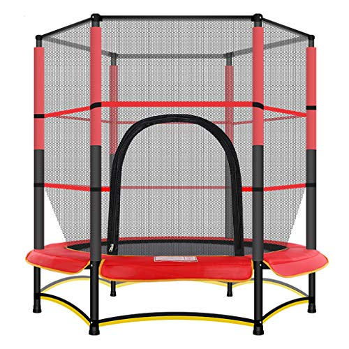 Tennis Household Children's Indoor Adult Trampoline Sports Equipment Safety Net Garden Trampoline Thick Steel Pipe Strong Elastic Rope Load 100KG Suitable For Indoor And Outdoor Parent-child Games