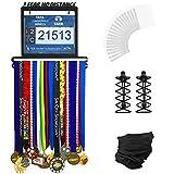 Urban Active Sports Medal Display - Complete Bundle Medal Holder Bib Hanger for 60+ Medals...