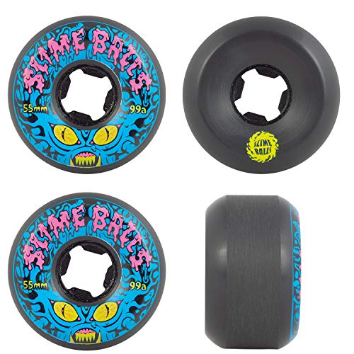 SANTA CRUZ Roues Skate (Jeu de 4) 55mm Freak Invader Black 99a