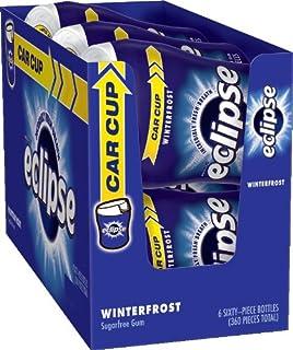 Eclipse Winterfrost Sugarfree Gum, 60 Piece Bottle (Pack of 6)