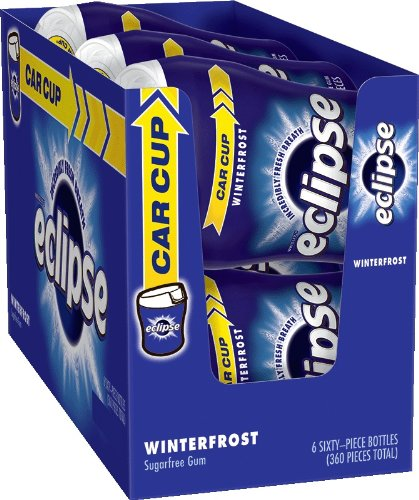 Eclipse Winterfrost Sugarfree Gum, 60 Count (Pack of 6)