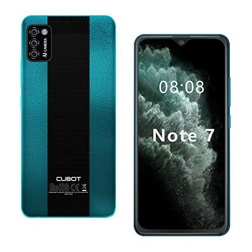 CUBOT Note 7 Smartphone ohne Vertrag 4G, Android 10 Go, 5,5' HD Display, 13MP Dreifach Kamera, 2GB/16GB, 128 GB erweiterbar, Daul SIM Triplo Slot Handy - Deutsche Version (Grün)