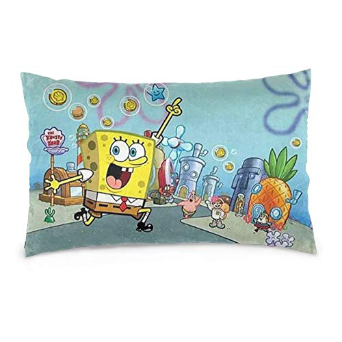 OKJLDH Spongebob Squarepants Pillow Cases Cushion Covers Body Pillow Cover for Sofa Bed Home Room Car Decor 20