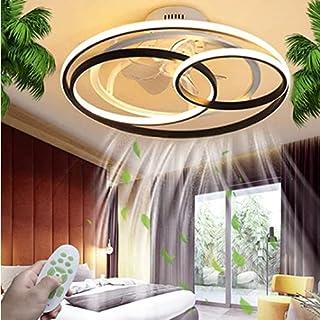 """Ventilateur De Plafond De 23 """"avec Lumières, Ventilateur Minimaliste À 3 Vitesses Et 3 Couleurs, Plafonnier Rond À Del Ave..."""
