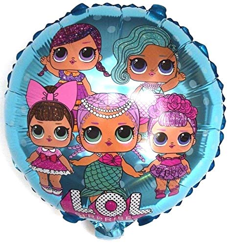 SauParty LOL Mädchen Film Kinder Surprise Helium Folienballon Party Deko Geschenk