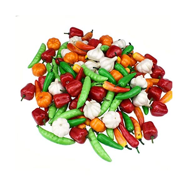 2Pcs Artificial Bell Pepper Simulation Realistic Food Faux Vegetable