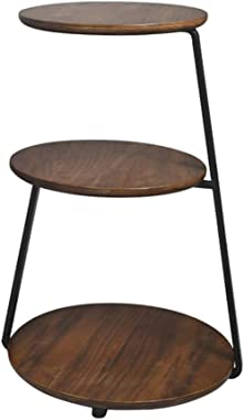 Side Table End Table Coffee Table Small Table Side Tables for Small Spaces Three-Story Living Room Side Table (Color : Brown,