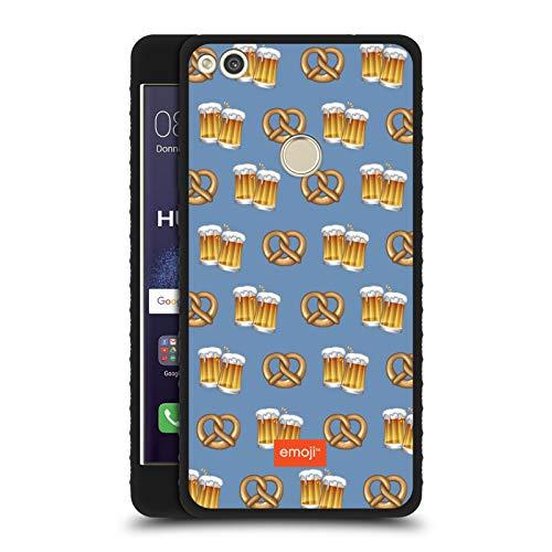 Head Case Designs Ufficiale Emoji® Birra E Pretzel Oktoberfest Cover Blindata Lite Nera Compatibile con Huawei P8 Lite (2017)