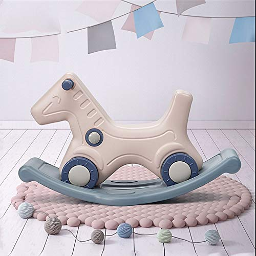 Baby Rocking Horse for 1-3 Year Old,Infant Rocking Animal, Kids Children Rocking Horse,Plastic rocking horse,Gray rocking horse,Two in one rocking horse,Toddlers Kids Baby Children Toy