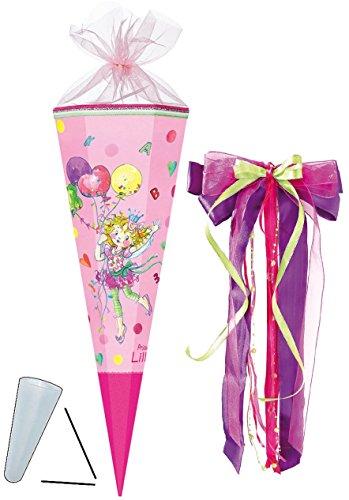 alles-meine.de GmbH komplette Füllung - Circa 200 Teile - für Schultüte -  Prinzessin Lillifee  - - eckig - incl. große Schleife - Tüllabschluß - Zuckertüte - Nestler - mit / o..