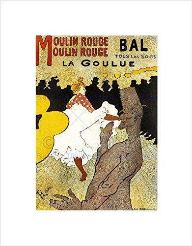 Theatercabaret Moulin Rouge La Goulue Weber Can-can Parijs Frankrijk Omlijst Muur Art Print
