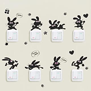 Cute Bunny Many Rabbits Wall/Switch Sticker Kids Rooms Kitchen Living Room Home Decoration Nursery Art Decals Vinyl Stickers