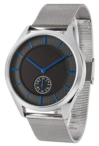 Zeit-Bar Funk-Armbanduhr, Damen, Datumsanzeige, mit Edelstahlgehäuse + -Armband