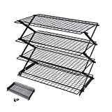 Geesta 2/3/4-Tier Collapsible Cooling Rack with Adjustable 3 Setting Design Stackable Cooling Roasting Cooking for Cookies Baking