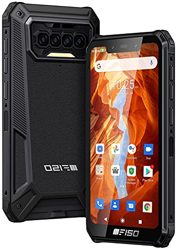 Rugged Smartphone IIIF150, IP68 Impermeabile, 6GB RAM + 64GB ROM, 256GB Espandibile, Batteria 8000mAh, Dual SIM 4G Android 10.0, Modalità Doppia UI, Display HD 5,86 , Quad Camera, NFC GPS, nero