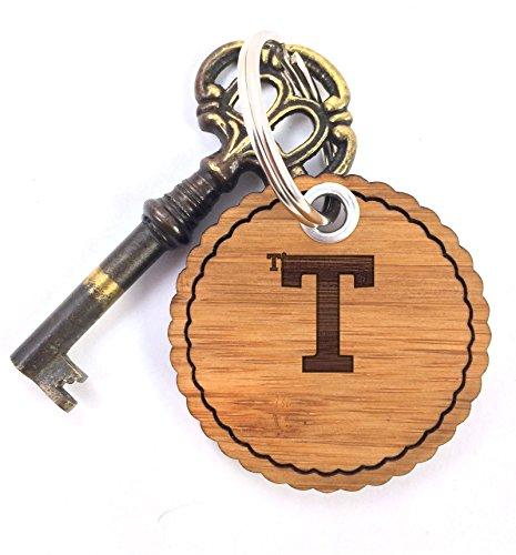 Mr. & Mrs. Panda Schlüsselanhänger Timm - 100% handgefertigt aus Bambus Holz - Anhänger, Geschenk, Vorname, Name, Initialien, Graviert, Gravur, Schlüsselbund, handmade, exklusiv