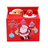 Piggy Bank for Kids, Automatic Stealing Money Bank with Music Coin Money Bank Birthday Gift Toy for Children (Santa Claus)