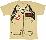 Ghostbusters Full Venkman's Kostüm with Backpack Print Sand Erwachsene T-Shirt (XXX-Large)