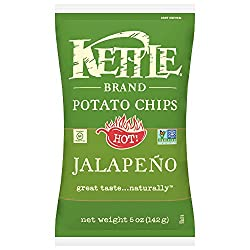 Kettle Brand Potato Chips, Jalapeno, 5 Ounce