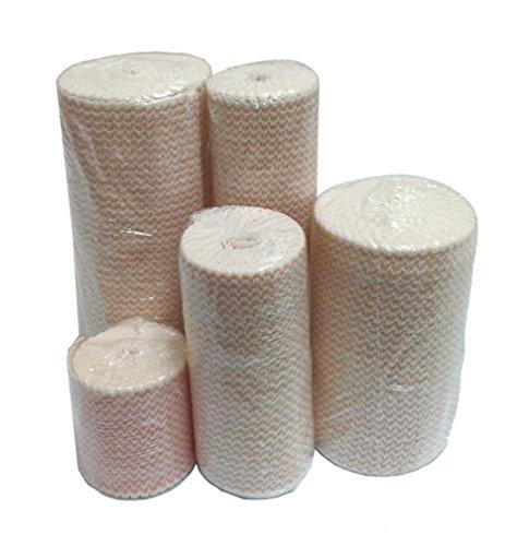 Premium Double Length Elastic Bandages w/Velcro 6' x 11yds