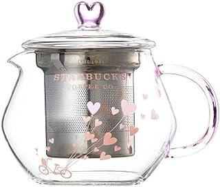 海外 Starbucks Loveballoon glass tea pot 460ml スタババレンタイン グラスティーポット スタバティーポット 韓国スタバ [海外直送品]