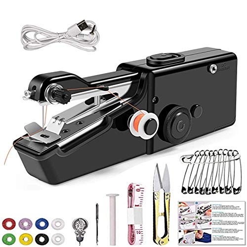 Handheld Sewing Machine Will Queen Portable Mini Electric Sewing Machine For...