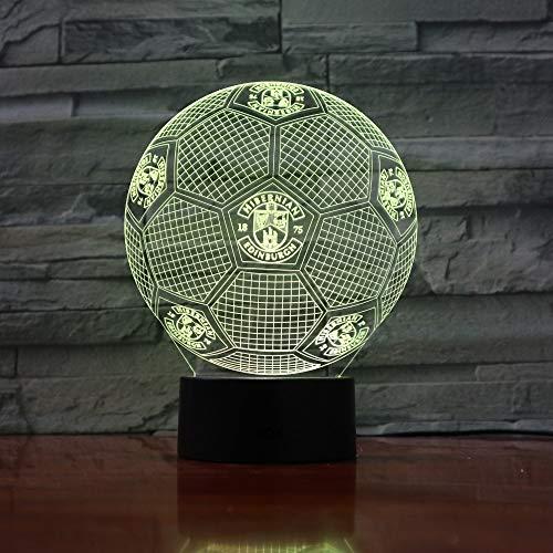 3D Licht USB Tisch Schreibtischlampe LED Fußball Wechsel Touch Schalter Licht Home Decoration GX Business